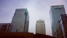 Say what you will but I just love the glass walls of Canary Wharf. by mansikkapaa