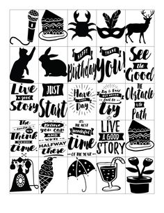 Free Printable-Get Inspired Quote Black and White Planner Sticker Sheets for Erin Condren Planners