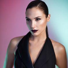 Gal Gadot. I love that lipstick shade.