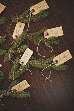 Namenschilder für Weihnachten