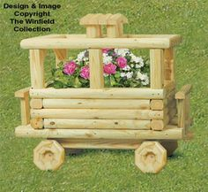 Landscape Timber Caboose Planter Plans NEW!  Make our large Caboose to add behind your Landscape Timber Locomotive and Train Car...its sure to be the focal point of your yard or garden!