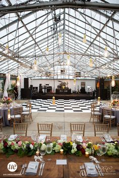Black And White Checkered Dance Floor Philadelphia Wedding At The Horticulture Center Uncommon Events
