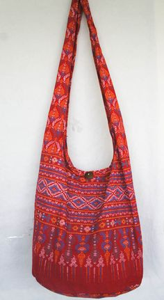 Hippie Bags Purse Black Sunflower Hippy Medium Boho Hobo Cotton Festival Bag