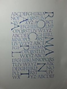 Very very nice Romans - Modern Calligraphy Fonts Alphabet, Calligraphy Supplies, Calligraphy Letters, Typography Letters, Lettering Styles, Hand Lettering, Roman Letters, Beautiful Lettering, Illuminated Letters