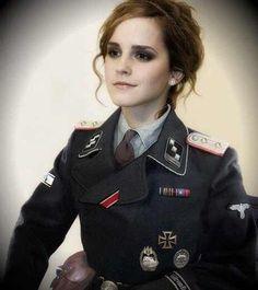 Lovely Emma Watson in Army Uniform German Women, German Girls, Ww2 Women, Shes Perfect, German Uniforms, Female Soldier, Dieselpunk, Trending Memes, Emma Watson