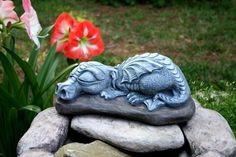 Dragon Garden Statue  BIG Sleeping Daphne Is So by PhenomeGNOME, $79.99