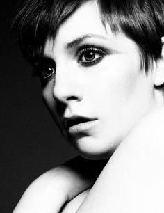 Lena Dunham's short hair
