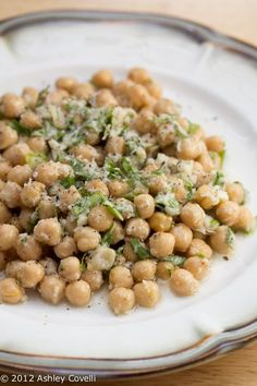 Just made this and its delicious!!!! Chickpea Salad with Lemon, Parmesan, and Fresh Herbs. m