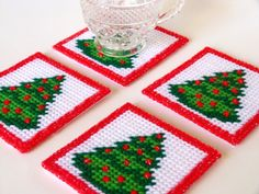 Hey, I found this really awesome Etsy listing at https://www.etsy.com/listing/253520899/plastic-canvas-coaster-set-christmas
