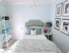 Loving the color scheme of this room and leaning toward something similar for the girls' room since the walls are already a light aqua that I love.