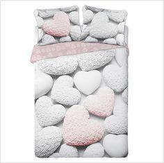 """Pościel z bawełny """"Sweet Hearts"""" 160x200 + 2x70x80 - Pościel bawełniana"""