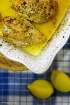 Ponto de Rebuçado Receitas: Frango com limão e alho