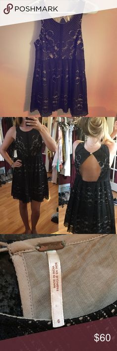 Free People LBD Worn for my college graduation a few years back. Too big for me now. Worn once; perfect condition! Let me know if you have any questions! Free People Dresses Backless