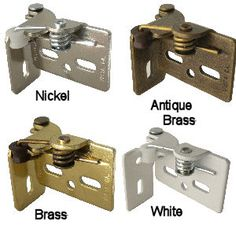 Youndale Hinges. Nickel, Antique Brass, Brass, And White.