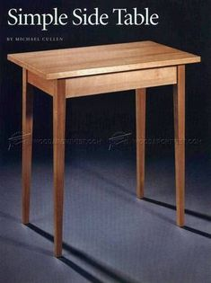 #522 Simple Side Table Plans - Furniture Plans