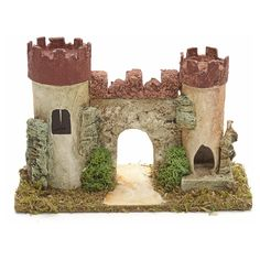 casas para pesebres - Cerca con Google Model Castle, Toy Castle, Christmas Crafts, Christmas Decorations, Fairy Village, History Projects, Pet Cage, Miniture Things, Amazing Gardens