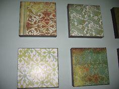 Scrapbook paper, canvas & modge podge wall art