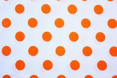 #PolkaDot #Fabric / #DearStella / Medium Size Dot /White Orange / #Cotton / #Sewing #Quilting Patchwork #Dressmaking #Supplies / Half Metre by TwoChubbyRabbits on Etsy