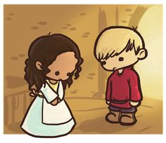 Sorry Merlin, but we're just too cute Emrys Merlin, Merlin Cast, Arthur And Guinevere, Merlin And Arthur, Best Tv Series Ever, Bbc Tv Series, Chronicles Of Narnia, Lunar Chronicles, Colin Morgan