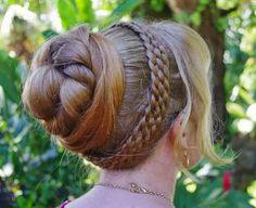 Braids & Hairstyles for Super Long Hair~ 6-strand hairband braid