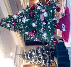 """UW Wisconsin Badgers Tree a Huge Hit at Trees of Hope auction!  May the Badgers """"Rock the Rose Bowl"""" !!"""