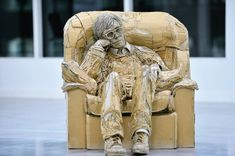 Figurative Sculptures Formed From Recycled Cardboard by James Lake | Colossal