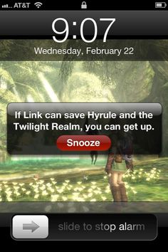 I should make one about how he saves all the hyrule and he doesn't sleep but once.
