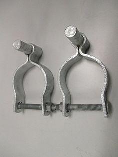 "Pressed Steel Chain Link Fence Post Hinge w/Bolt - (2 Sets Pack) (1-5/8"")"