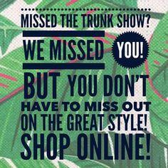 Missed trunk show.    Www.stelladot.com/pattipalisin