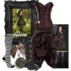 """""""Alice Madness Returns: Steampunk"""" by the-disney-girl on Polyvore"""