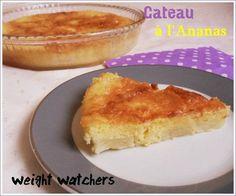 Gâteau à l'ananas weight watchers