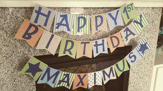 First birthday banner