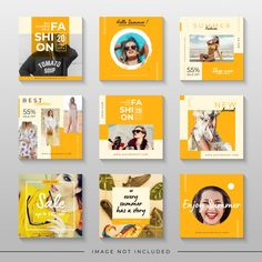 Yellow summer sale for social media post template Premium Vector Interpersonal press has become the Social Media Branding, Social Media Banner, Social Media Template, Social Media Design, Social Media Graphics, Social Media Measurement, Social Media Tips, Social Networks, Instagram Design