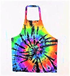 Black and Rainbow Apron, Tie Dye Adult apron// Gay Pride// Grilling accessory// chefs apron// cooks apron// edgy// Father// BBQ//   A2 by FarmFreshTieDyeStore on Etsy