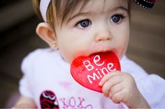 Cute way to photograph a baby or toddler for Valentine's Day