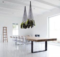 oversized wooden table