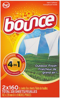 Bounce Fabric Softener Dryer Sheets, Outdoor Fresh, 40 Ct We admit, the outdoors smell great. But with Bounce? dryer sheets you get fewer wrinkles, softer fabrics and way less static cling on top of an outdoor fresh scent. Laundry Drying, Laundry Detergent, Costco Coupons, Fabric Softener Sheets, Walmart, Thing 1, Textiles, Static Cling, Home Office Design