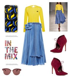 """""""In The Mix"""" by totalteenagenobody ❤ liked on Polyvore featuring Rochas, ALDO, Casetify and Oliver Peoples"""