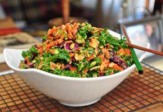 Simple Kale Salad with Avocado