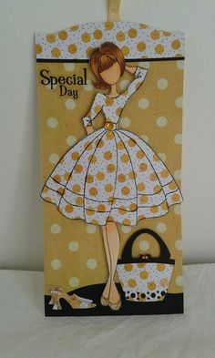 Looking fabulous darling. Prima Paper Dolls, Prima Doll Stamps, Paper Art, Paper Crafts, Handmade Tags, Kirigami, Card Tags, Tag Art, Cute Cards