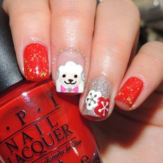 Year of the Sheep/Goat 2015 Chinese New Year Nails by @amyytran