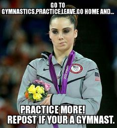 Gymnasts...we work so hard to be perfect, even though there is always something to fix and i love it! It's addicting because of the feeling you get when you stick a landing or get a perfect 10 on your beem routine. Plus you get a another family to cheer you on at every meet or practice that may know you more than your real one.