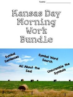 Symbol Word Search Unscramble the Symbols All About the Seal Fill in the Blank State Symbols. Kansas Day, Morning Work, Social Studies, Sentences, Kindergarten, Classroom, Facts, Symbols, Education