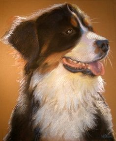 Custom Pet Portrait Painting in Pastel on Paper by digsandthreads, $150.00