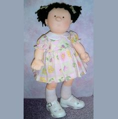 20 inch cute huggable cloth doll sewing pattern Tessie Toddler