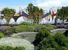 Ceramic tile mural at César Manrique Foundation (prev CM home), Tahiche, Lanzarote.