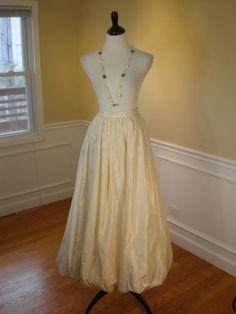 ebay ivory long bubble skirt taffeta