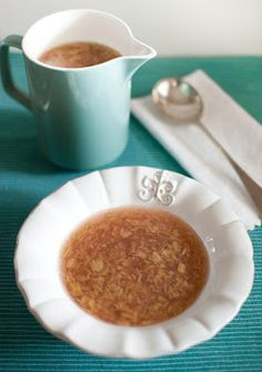 Finnish Rhubarb Soup - now I understand why my Finnish mother loved rhubarb pie!