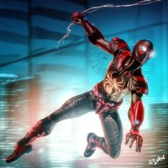 INDUSTRIAL SPIDERMAN 2034 by ISIKOL Comic Book Characters, Marvel Characters, Comic Character, Comic Books Art, Comic Art, Comic Pics, Book Art, Marvel Vs, Marvel Dc Comics