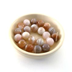Beads Red And Gray Botswana Agate Smooth Rounds by CinLynnBeads, $5.50